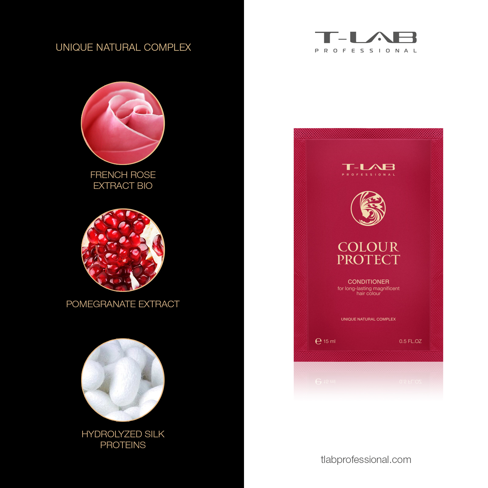 Colour Protect Conditioner: FRENCH ROSE EXTRACT BIO, POMEGRANATE EXTRACT, HYDROLIZED SILK PROTEINS