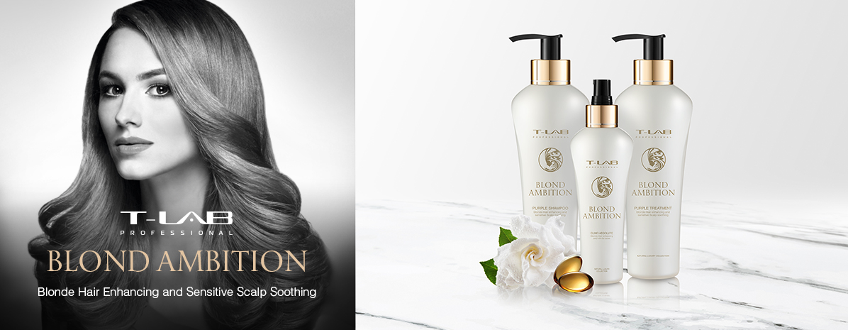 Blond products for magnificent hair revitalizing and shine