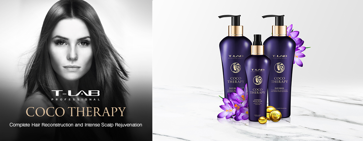 Coco products for complete hair reconstruction and intense scalp rejuvenation