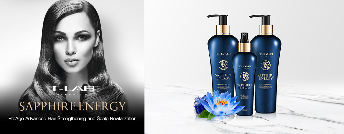 Sapphire products for ProAge advanced hair strengthening and scalp revitalization